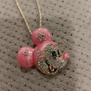 New crystal mickey mouse necklace